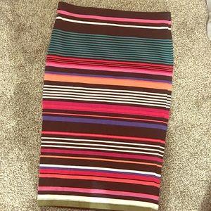 Decree striped pencil skirt size medium